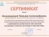 Сертификат участника выставки Инновационных проектов, 2013г.